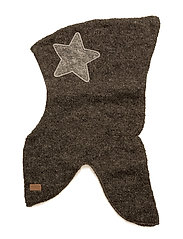 Wool Bouclé Fullface with Star - 180/DARKGREYMELANGE