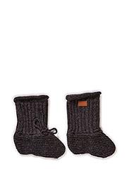 Lamb Wool Footies, w/string - ANTRAZITE