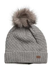 Lamb Wool Sailor hat with Fake fur pom - 135/LIGHTGREYMELANGE