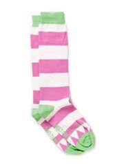 Knee-high, Triangle & Stripe - Summer green
