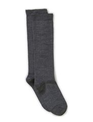 Classic Superwash wool, Knee-high - Light grey melange