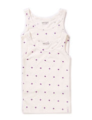 Numbers, 2-pk AOP Girls Top - Bright Lilac
