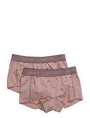 Numbers, 2-pk AOP Girl Shorts - ALT ROSA