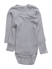 Numbers 2-pk LS Rib Body - 135 / LIGHT GREY MELANGE