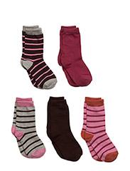 Numbers, 5-pack Socks, Mix - PLUM