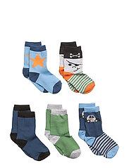 Numbers 5-pack Socks - BOYS - 270 DARK BLUE