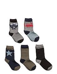 Numbers 5-pack Socks - BOYS - 281/NAVY