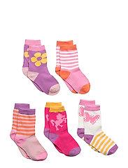 Numbers 5-pack Socks - GIRLS - 522 MORNING GLORY PINK