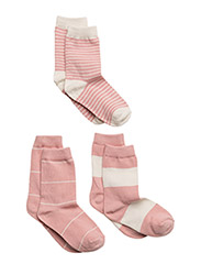 Numbers 3-pack Socks - STRIPES - 501/CHINTZROSE