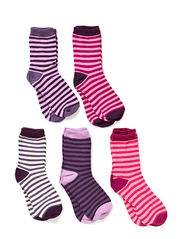 Melton 5-pack socks, Stripes by Melton