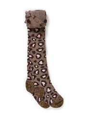 Tights, Leopard - Chocolate