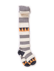 Tights, Triangle & Stripes - Graphite grey