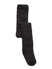 Tights, Zebra w/Lurex - BLACK