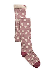 Tights - Hearts in Line - 573/DARKPLUM