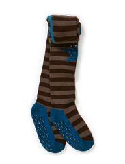 Classic Wooltight,Stripe/Star - Dove blue