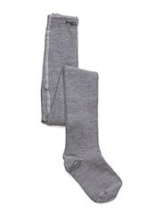Classic Basic Tights WO/CO - Light grey melange