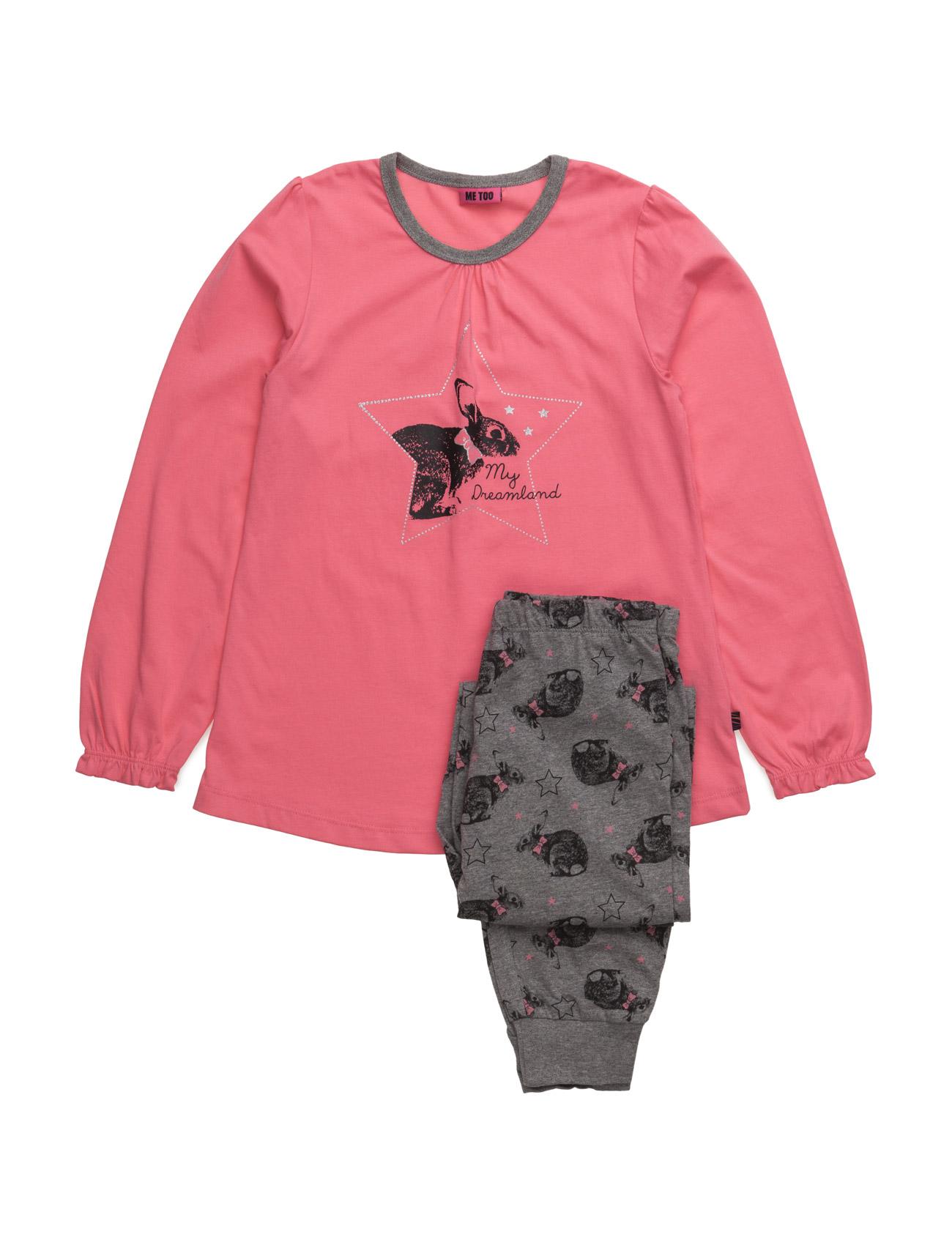 Gui, Nightwear MeToo Pyjamas til Børn i Medium Grey Melange