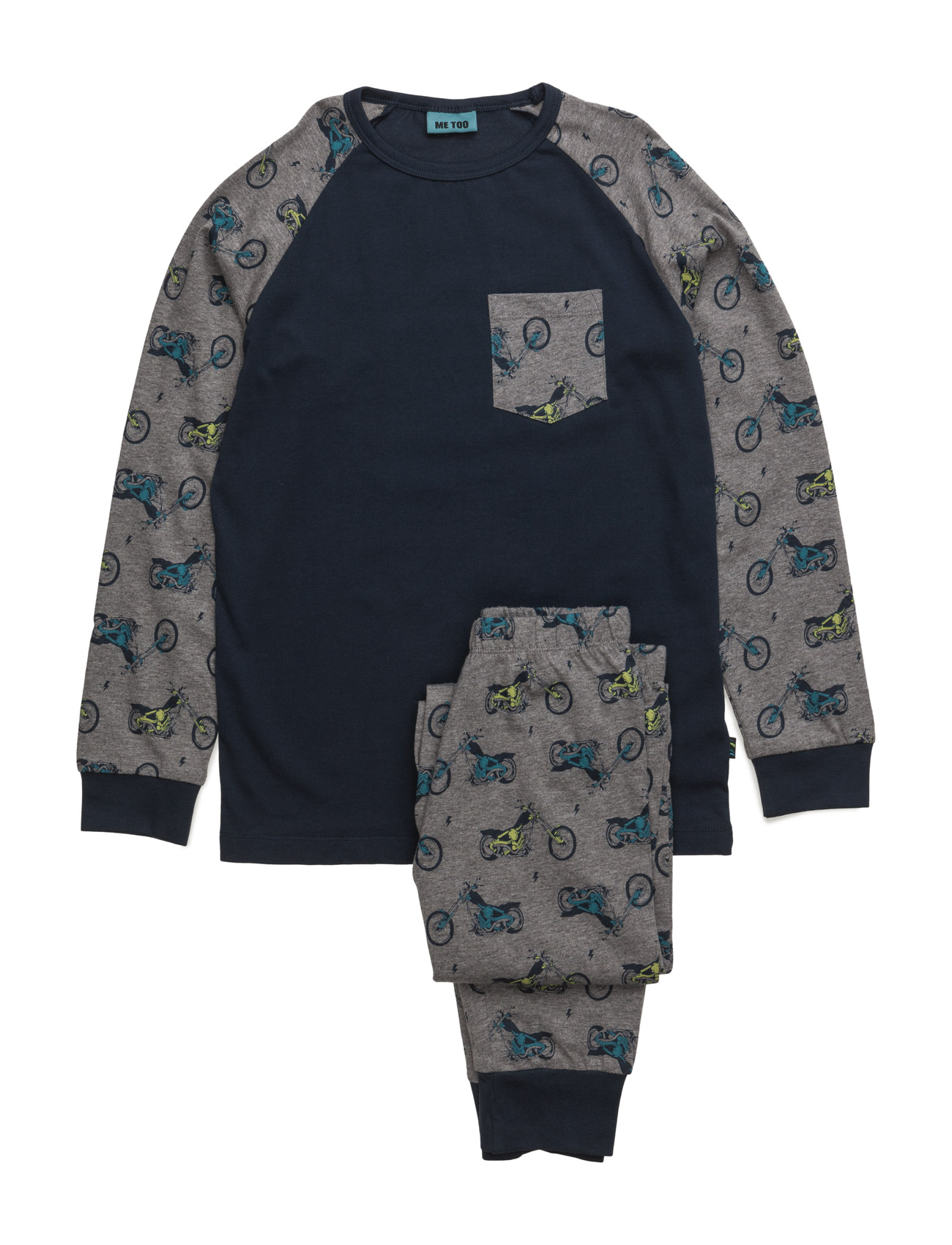 Gwan, Nightwear MeToo Pyjamas til Børn i Medium Grey Melange