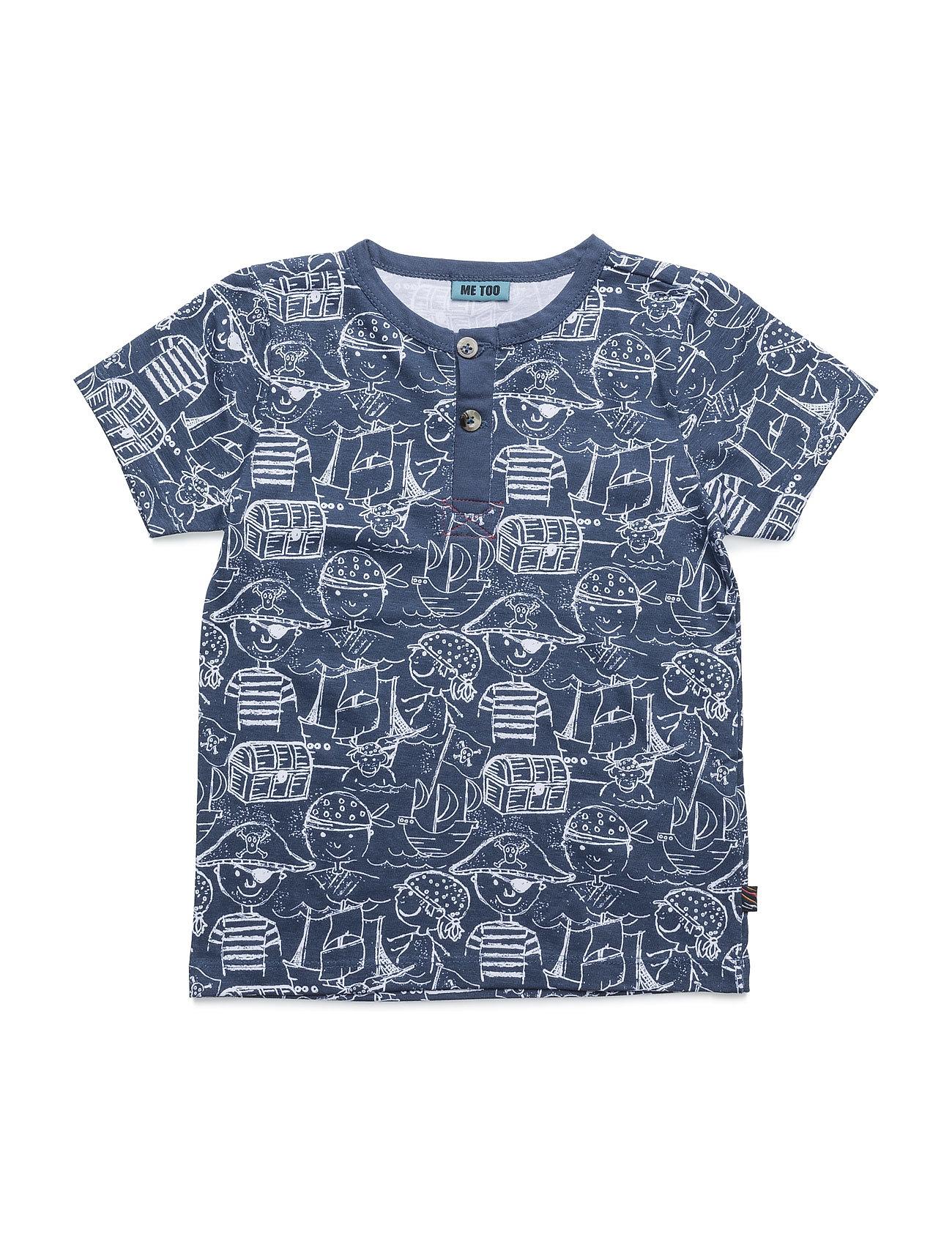 Lau 278 -Top Ss MeToo Kortærmede t-shirts til Børn i Mørk Denim