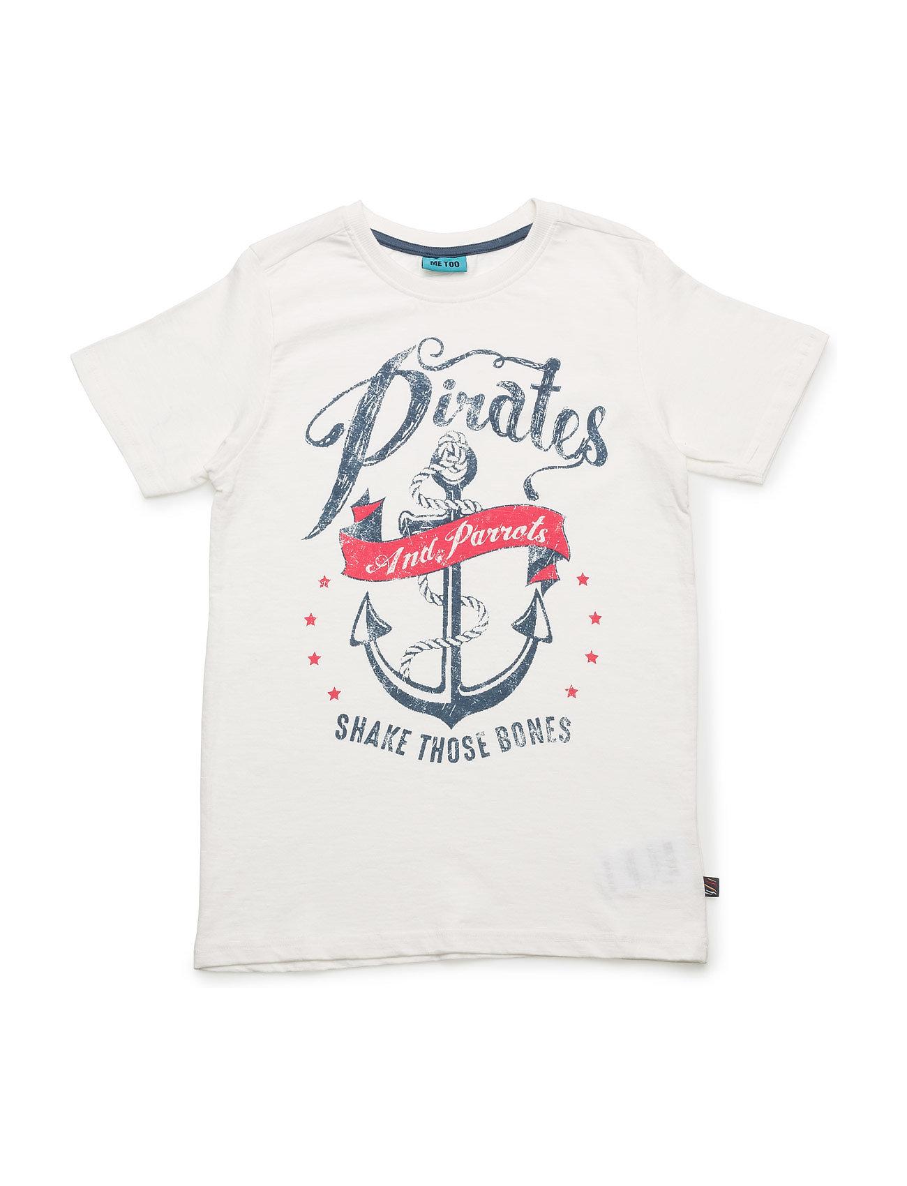 Lasse 276 -Top Ss MeToo Kortærmede t-shirts til Børn i Sne hvid
