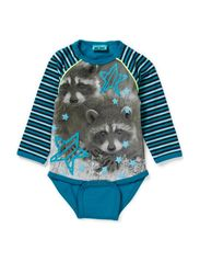 ILLA BABY LONG SLEEVE BODY - ENAMEL BLUE