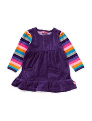 KANE BABY VELOUR DRESS - ACAI
