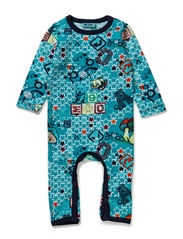 LES BABY LONG SLEEVE SUIT - ENAMEL BLUE