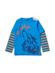 KRISTOF MINI B LONG SLEEVE TOP - BLUE ASTER