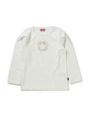 MINDY MINI B LONG SLEEVE TOP - SNOW WHITE