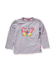 NATJA MINI B LS TOP - GREY MELANGE
