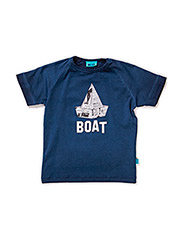 POUL MINI B SS TOP - DRESS BLUES
