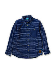 MATTIS BAM LONG SLEEVE SHIRT - DENIM