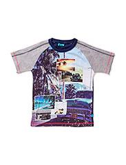 POULI BAM SS TOP - DRESS BLUES