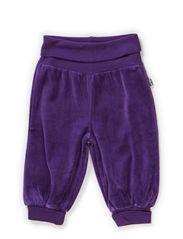GUNDE BABY VELOUR PANTS - ACAI