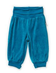 GUNDE BABY VELOUR PANTS - OCEAN DEPTHS
