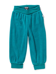 GUNDE MINI VELOUR PANTS - BLUE GRASS