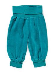 GUNDE BABY VELOUR PANTS - BLUE GRASS