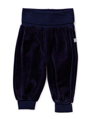 GUNDE BABY VELOUR PANTS - DRESS BLUES