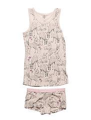 4556 - AOP -Underwear - BEIGE ROSE MéLANGE