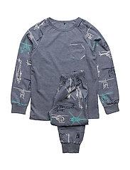 4565 - AOP -Nightwear - DRESS BLUES