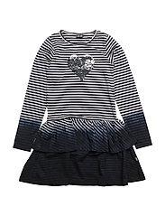 370 -Dress LS Y/D - NAVY NIGHT