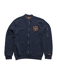 393 -Cardigan Sweat - DRESS BLUES