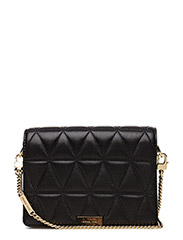 MD GUSSET CLUTCH - BLACK