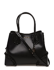 MD CENTER ZIP TOTE - BLACK