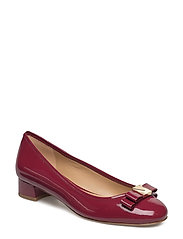 CAROLINE KITTEN PUMP - MULBERRY