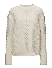 CABLE SWEATER - BONE