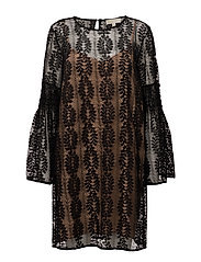 BELL SLEEVE LACE DRS - BLACK