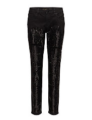 SEQUIN TST IZZY SKNY - BLACK