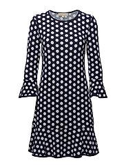 SIMPL DOT ELEV DRESS - TRNAVY/WHITE
