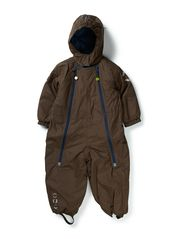Nylon suit baby solid color - Chestnut